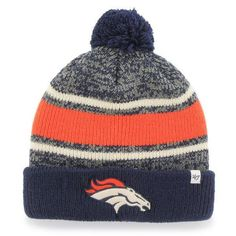 innovative design a422b 698cb Denver Broncos  47 Brand Fairfax Cuffed Knit Hat with Pom - Navy