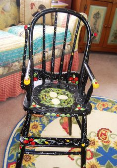SAMPLE Chickadee High Chair by ArtziFartzi on Etsy