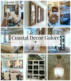Coastal Decor Galore (the best for last!) TONS of coastal decor ideas here! And a video of the home and decor too!