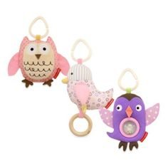 SKIP*HOP® Owl Patch Stroller Toys - BedBathandBeyond.com - like bird on left and in centre