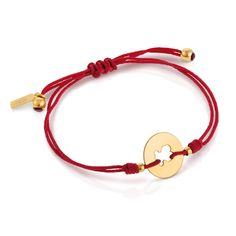 Vermeil (TOUS)RED bracelet. Vermeil: 18Kt gold-plated sterling silver. TOUS has joined forces with RED in a charitable project aimed at helping to eliminate the transmission of the HIV/AIDS virus throughout the world. A percentage of the sales of this special edition of the (TOUS)RED bracelet will be devoted to the projects undertaken by the NGO, Global Fund, which are aimed at eradicating the HIV/AIDS virus.