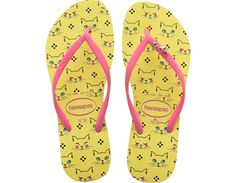 <p>Some furry friends make an appearance on the Slim Pets flip flop. Choose from an adorable hamster, raccoon, French bulldog or kitten print on our comfortable signature textured footbed. Wrap metal embellishments on slim straps complete this fun look.</p><ul><li>Thong style with slingback strap</li><li>Cushioned footbed with textured rice pattern and rubber flip flop sole</li><li>Made in Brazil</li></ul>