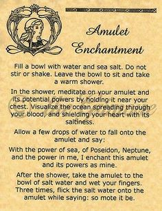 Amulet Enchantment Spell - Book of Shadows Page - BOS Pages - Wicca - Witchcraft Magick Spells, Wicca Witchcraft, Luck Spells, Magick Book, Voodoo Spells, Healing Spells, Witch Spell Book, Spell Books, Under Your Spell