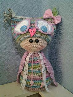 Adorable crochet owl