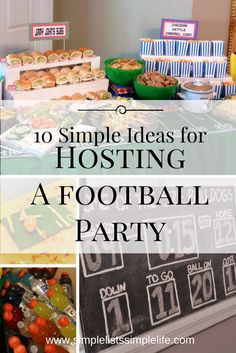 10 simple ideas provided to make hosting a football themed birthday party easy! (scheduled via http://www.tailwindapp.com?utm_source=pinterest&utm_medium=twpin&utm_content=post135763345&utm_campaign=scheduler_attribution)