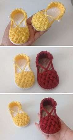 Crochet Chickpea Shoes - *Designers' share: free crochet patterns* # how to crochet baby shoes Booties Crochet, Crochet Baby Sandals, Crochet Baby Clothes, Crochet Shoes, Crochet Slippers, Love Crochet, Knit Baby Booties, Crochet Dolls, Baby Shoes Pattern