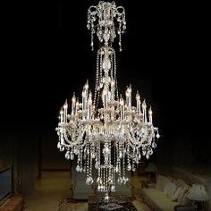 [ $68 OFF ] Plus Long Antique Silver Cognac Crystal Chandelier Led Lustre Luxury Large Chandelier Crystal Light Villa Living Room Lampadari
