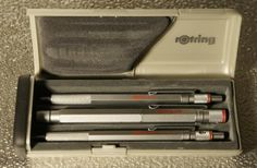 Rotring 600 silver set, Roller Ball, Ball Point, mech. pencil