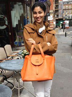 Thela Bag Cervo Mandarin Designer Italian Leather Handbags   meli melo handbags