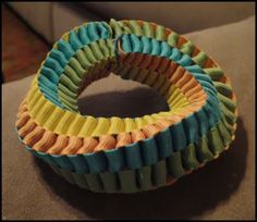 DIY Ribbon Bracelet by via thetotalbasketcase: Box stitch!  #DIY #Bracelet #Ribbon