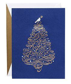 Blue Dove Tree Card by William Arthur