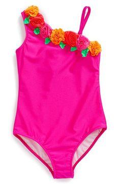 Love U Lots One-Piece Swimsuit (Baby Girls) | Nordstrom