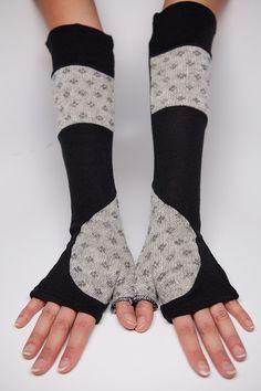 Upcycled Sweater Arm Warmer, Handmade by Nostalgia Jewelry, via Flickr