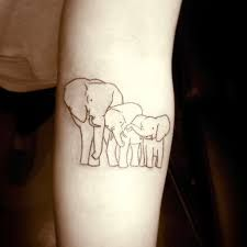 tattoos of mom and daughter elephants - Google Search