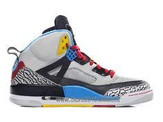 best service d09e5 6355b Jordan Spiz´ike - Chaussures de Nike Baskets Officiel Jordan Pas Cher Pour  Homme Blanc Gris Bleu Jaune 315371-070