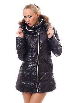 Womens Long Sleeve Winter Coat Winter Jacket Quilted Coat Jacket Hood Faux Fur   Kleidung & Accessoires, Damenmode, Jacken & Mäntel   eBay!