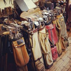 Vintage golf clubs at the Old Course in St. Andrews.    @thedailybasics ♥♥♥