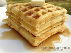 Here is an easy homemade Eggo waffles recipe. Not only are we saving money on our food budget, we are eating healthier too by eliminating processed foods!