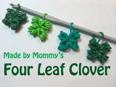Four Leaf Clover Shamrock Charm Without the Rainbow Loom - St Patrick's ...
