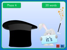 An interactive Ppt that can be worked through at your own pace. Each slide has the high frequency words from one of four Letters and Sounds Phases. Click the Magician's hat and out pops a rabbit with a word to read. Click the wand and the word and rabbit disappear, Each slide tells you how many words are covered and the ppt could be used for small groups and individual children in addition to whole class teaching. Comic Sans activity is editable while others use an embedded font
