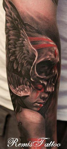 Original Design by Soufiane Idrassi, Tattoo by Remigijus Cizauskas at Remis Tattoo