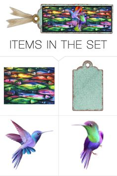 """Fins & Feathers"" by kateo ❤ liked on Polyvore featuring art and 7141"