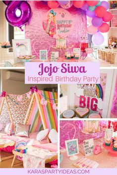 JoJo Siwa Inspired Girly Birthday Party via Kara's Party Ideas - KarasPartyIdeas.com