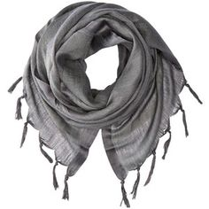Love Quotes Linen Tassel Scarf (Charcoal)