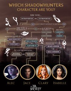which shadowhunters character are you?