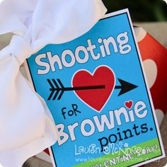 """""""Shooting for Brownie Points""""- Valentine's Day Brownies- Cute for Teacher's Gift!!!"""