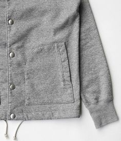 JIGSAW COATING FLEECE COACH JACKET [TOP GRAY]