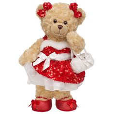 All Glammed Up Happy Hugs Teddy This bear is sooo adorable! I love her outfit! so glittery! I would love to add her to our Build -A-Bear collection! Build A Bear Outfits, Bear Party, Love My Kids, Bear Doll, Poses, Cuddling, Plush, Hello Kitty, Teddy Bears