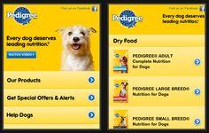 Pedigree mobile optimised website