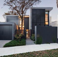 99 Modern Gate Design for House 2017 Modern Residential Architecture, Melbourne Architecture, Architecture Design, Gate Design, Facade Design, Exterior Design, Modern House Plans, Modern House Design, Duplex Design
