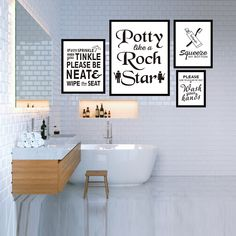 """""""Modern Toilet Quote Prints Posters Wipe Your Seat Canvas Painting On The Wall For Bathroom Home Decoration Positive Art Pictures"""" Bathroom Artwork, Bathroom Wall Decor, Home Decor Wall Art, Modern Bathroom, Dining Room Wall Art, Kids Room Wall Art, Quote Prints, Poster Prints, Posters"""