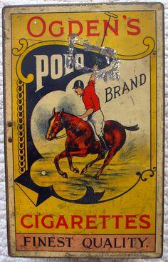 Ogden's Polo Cigarettes tin