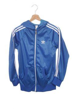 c40b4a6a12b2 Adidas Trefoil Windbreaker Tracksuit Top jacket White Blue Black Size M L