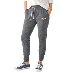 Women's Denver Broncos G-III 4Her by Carl Banks Charcoal Playoff Jogger Pants