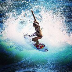 The u l t i m a t e surfer babe @coco ho tearing it up. by @chroniclesofchristie #volcom #girlswhoshred #Padgram