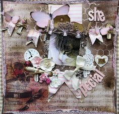 Scrapsels from Lean: She is Special. Lovely page