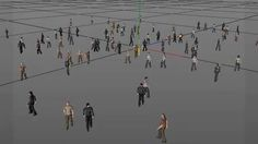 Cinema 4D - Crowd Simulation Tutorial