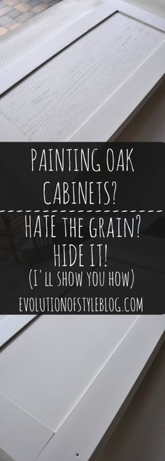 Kitchen Cabinets How to hide the grain when painting oak cabinets - Are you wanting to refresh your dated oak cabinets with paint? Here are some great tips tricks for painting oak cabinets and giving them a new look! Oak Kitchen Cabinets, Built In Cabinets, Kitchen Paint, Custom Cabinets, Kitchen Redo, Wood Cabinets, Kitchen Ideas, Kitchen Makeovers, Kitchen Furniture