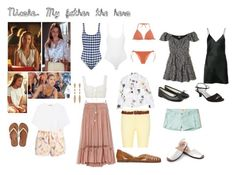 My father the hero. Nicole by laursgil on Polyvore featuring moda, Fleur du Mal, Hollister Co., Vince, Equipment, Chloé, Marysia Swim, Solid & Striped, ATM by Anthony Thomas Melillo and Cosabella