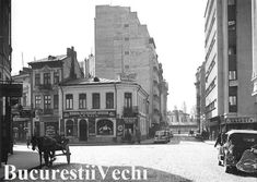 Strada Brezoianu in anul 1939 - Bucurestii Vechi si Noi Bucharest, Old City, Time Travel, Buildings, Traveling, Street View, Gardening, Memories, Photos
