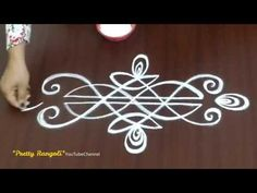 How to draw simple Border rangoli designs*esay and unique border kolam^Border muggulu Simple Rangoli Border Designs, Rangoli Simple, Indian Rangoli Designs, Rangoli Designs Latest, Boarder Designs, Rangoli Designs Flower, Free Hand Rangoli Design, Rangoli Borders, Small Rangoli Design