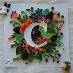 Home decor, nursery, anniversary, birthday, WEDD gifts by SwapnaArtStore Quilling Letters, Paper Quilling Cards, Quilling Work, Paper Quilling Patterns, Quilled Paper Art, Quilling Jewelry, Quilling Paper Craft, Paper Crafts, Paper Quilling For Beginners