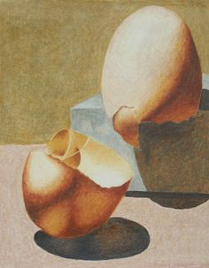 Framed Colored Pencil Drawing of Egg Shells on Etsy, $175.00