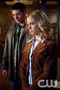 """""""In The Beginning"""" -Pictured (L-R) Jensen Ackles as Dean and Amy Gumenick as Mary Winchester in SUPERNATURAL on The CW. Photo: Sergei Bachlakov/The CW �2008 The CW Network, LLC. All Rights Reserved.pn"""