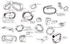 Samsung Galaxy Gear Fit by IAN GALVIN, via Behance.