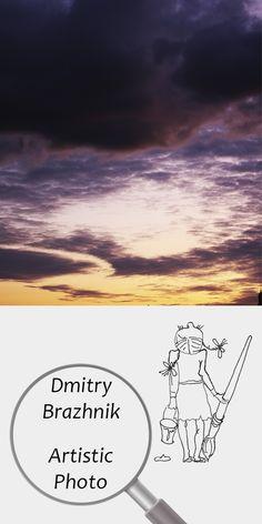 Dmitry Brazhnik   Artistic Photo   Printable   Design   Interior   Instant Download   Landscape Photography (fragment)   Full Color Clouds Sky Purple Lilac Yellow Sunset   №D-2002